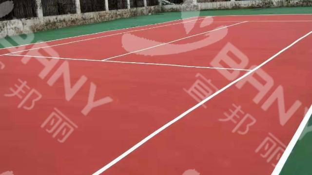 南京六合区雄州初级中学丙烯酸网球场