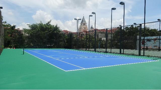 靠谱塑胶网球场材料厂家宜邦丽为您讲解施工注意