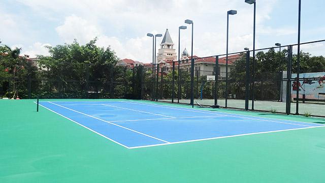 羽毛球场网球场地PVC场地的场地标准