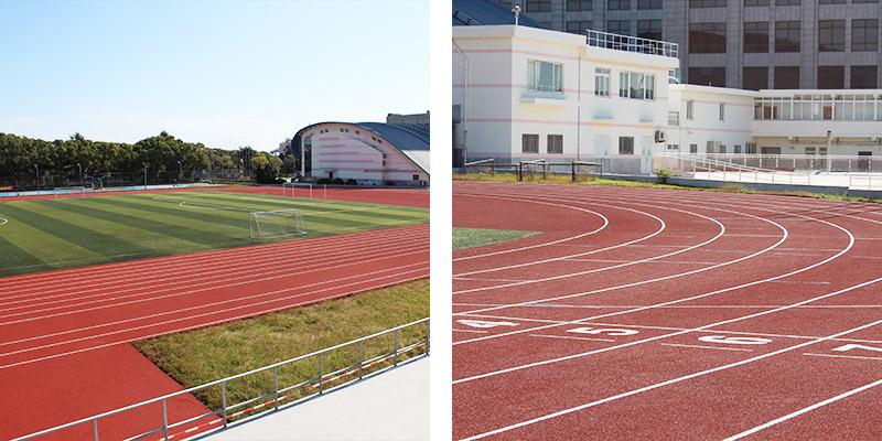 上海金山区体育场塑胶跑道材料案例!