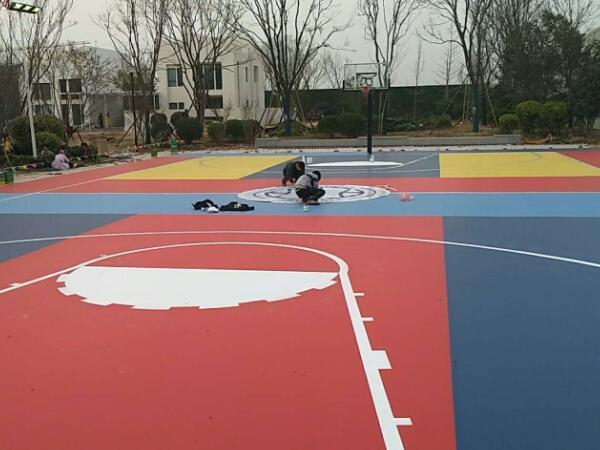 颜色定制系列多彩硅PU篮球场