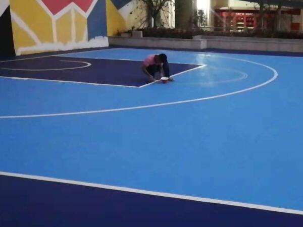 颜色定制系列蓝底硅PU球场