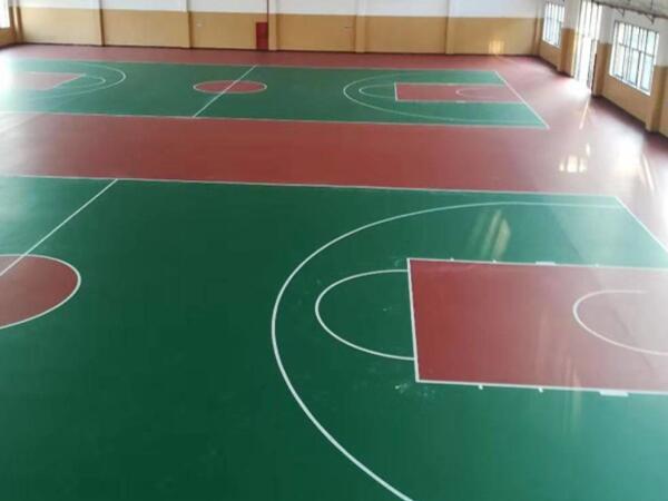 医药公司室内硅PU篮球场活动室