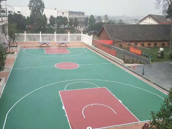 社区小硅PU篮球场