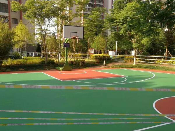 高端社区硅PU篮球场