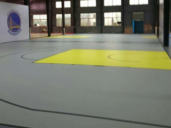 工厂室内活动硅PU篮球场