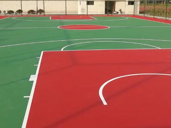 弹性丙烯酸活动篮球场