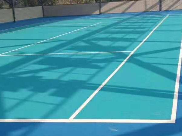 定制颜色系列海洋蓝丙烯酸网球场