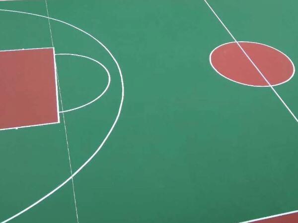 硬地丙烯酸篮球场完工效果