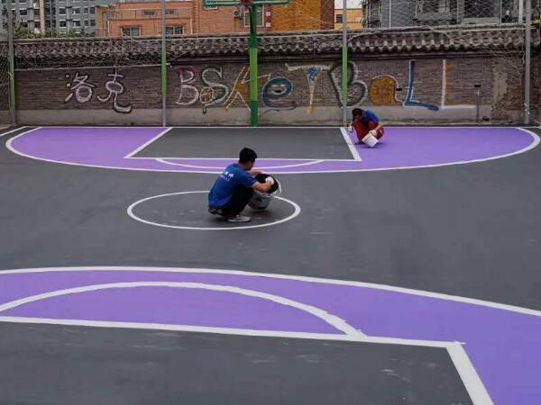 丙烯酸街头篮球场