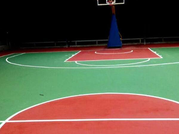 丙烯酸篮球场竣工效果