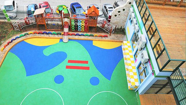 上海幼儿园彩色路面材料案例!